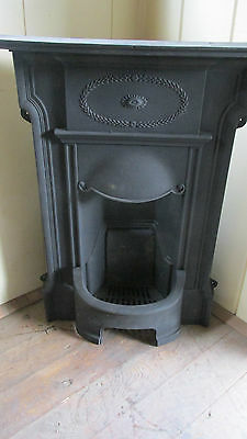 Antique Edwardian cast iron fireplace