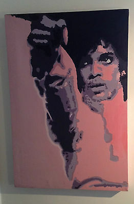 'prince' - Pop Art  Painting On Canvas Signed By Artist