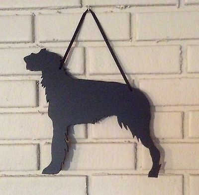 Scottish Deerhound Handmade Chalkboard Dog Shadow Blackboard w/chalk & Eraser