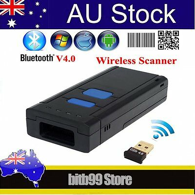 Wireless 2D Barcode Scanner Reader Bluetooth 4.0 QR For IOS iPhone 6 Android F9