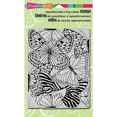 """Stampendous Cling Stamp 5.25""""X3.75"""" - Butterfly Wings"""