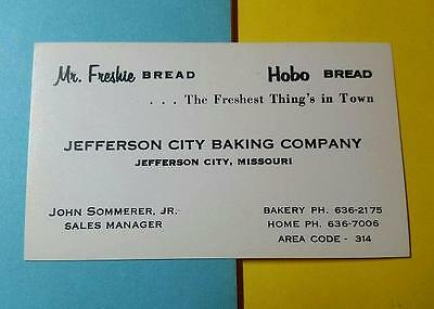 "RARE VINTAGE 1940-50's ADVERTISING ""HOBO BREAD & Mr. FRESHIE"" JEFFERSON CITY MO"