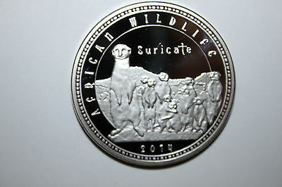 2014 Zambia1000 Kwancha Proof Coin African Wildlife Suricate