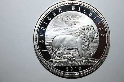 2014 Zambia1000 Kwancha Proof Coin African Wildlife Lion