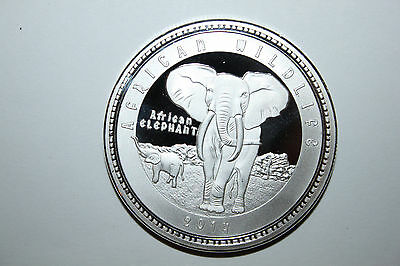 2014 Zambia1000 Kwancha Proof Coin African Wildlife Elephant