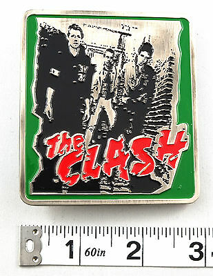 The Clash Debut Album Band Photo Licensed Belt Buckle Punk Rock ACC