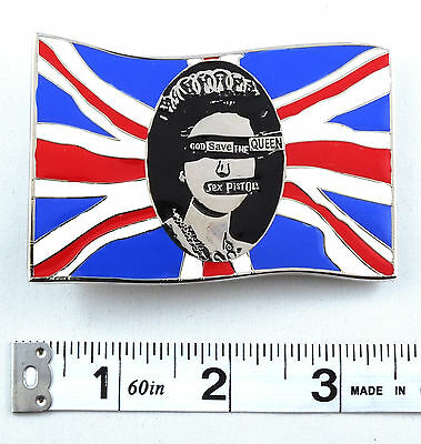 Sex Pistols God Save the Queen Licensed Belt Buckle Punk Rock Band  ACC