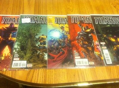Thanos 1 2 3 4 5 - Marvel Comic Lot Run Set 1st Print Collection