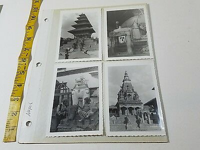 50's or 60's lot 8 Vintage Photos NEPAL Old Architecture Buildings People  p