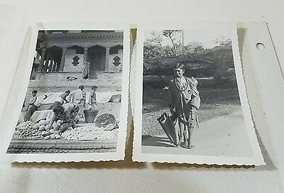 50's or 60's lot of 9 Vintage Photos NEPAL?? Old Architecture Buildings People p