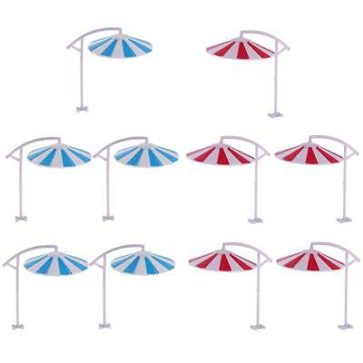10 Pcs Model Sun Umbrella Parasol Miniature for Garden Landscape Props 1/100