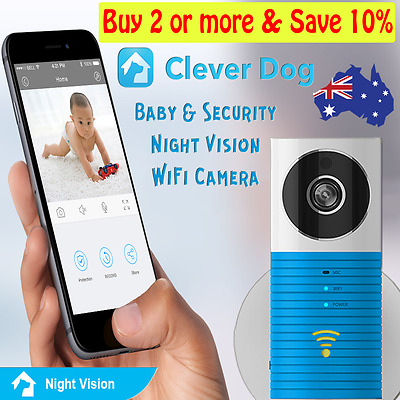Clever Dog HD720 Home Security Baby Monitor WiFi Wireless IP Camera Night Vision