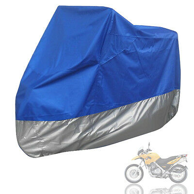XXL Motorcycle Motorbike Waterproof UV Protective Breathable Cover Outdoor Blue