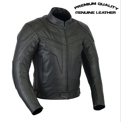 Men,s PREMIUM QUALITY CE ARMOURED MOTORCYCLE MOTORBIKE COWHIDE LEATHER JACKET
