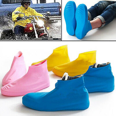 Reusable Waterproof Anti-slip Bike Couples Shoe Cover Rain Boot Overshoe #
