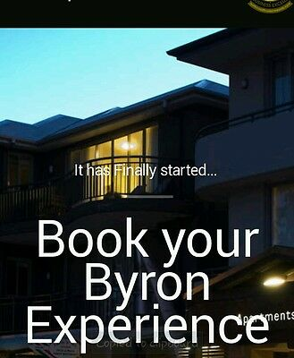 *Accommodation in Beautiful Byron Bay. Valued at $640!! Grab a getaway bargain!!