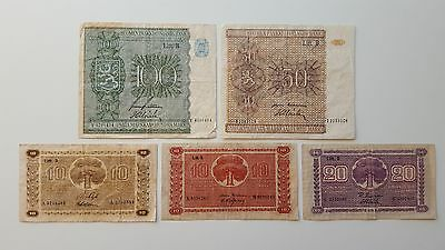 Lot of 5 Finland Banknote