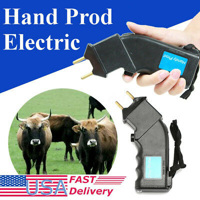 Electric Hand Prodder Cattle Farming Battery Powered Prod Beef Dog Sheep Animals