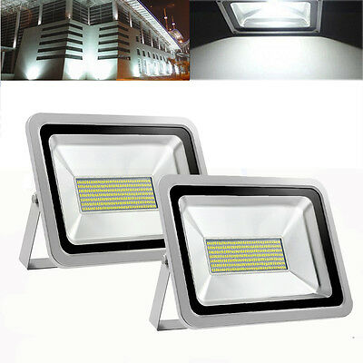 2X 150W LED SMD Cool White Flood Light Outdoor Yard Spot Floodlight 240V IP65