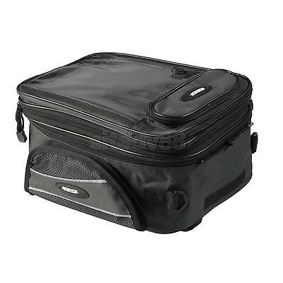 Universal Magnetic Motorcycle Oil Fuel Tank Bag for Riding Travel Black