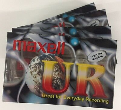 3x Maxwell UR90 Blank Audio Cassettes 90 Mins Oz Stock Free Shipping