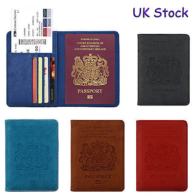 RFID Passport Leather Case, Blocking Passport Holder Travel Wallet Case Cover