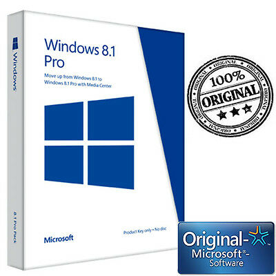 Microsoft License Licenza Product Key For Software Windows Win 8.1 Pro 32 64 Bit