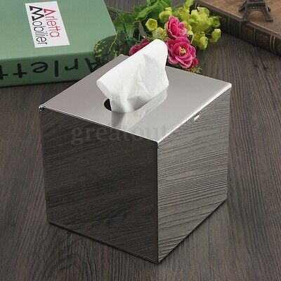 Stainless Steel Durable Tissue Box Paper Cover Napkin Case Home Toilet Holder AU