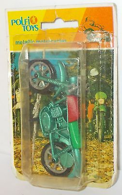 Polfi Toys Metallic Motorcycles - Motorcycle, Green/Red - In Pack.(Vintage)