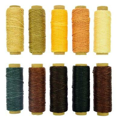 BIGTEDDY - 10 Colors 150D 1mm Hand Stitching Waxed 10 Color Thread Set