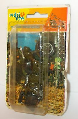 Polfi Toys Metallic Motorcycles - Motorcycle, Military Green, In Pack.(Vintage)