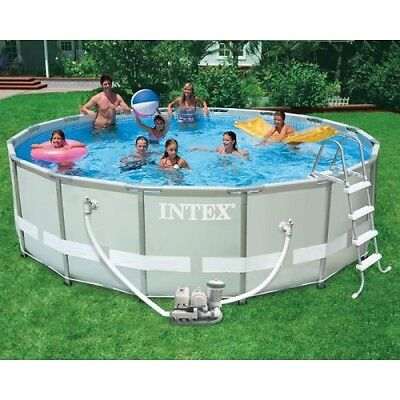 Intex Ultra Metal Frame Pool Set 488x122 + Chlorinator Pump Combination 54470GS