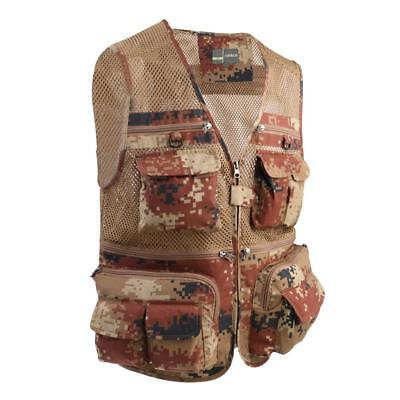 Outdoor Quick-Dry Fishing Vest Multi-Pockets Waistcoat Travel Photography Jacket