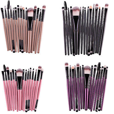 15pcs Make Up Brush Set Kit Maquillage Pinceau Brosse Cosmetic Fond Teint