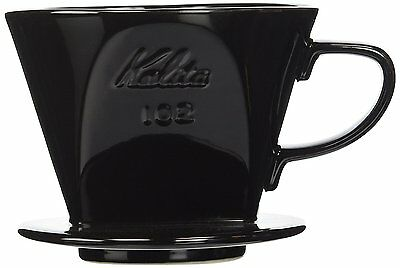 Kalita Ceramic Coffee Dripper Black for 2-4 Cups from Japan 02003 #546 F/S