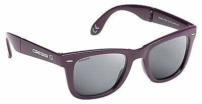 Cressi Taska Sports Sunglasses Burgundy/Mirrored Lens Grey
