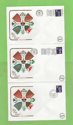 G.B. 1975 set of three 5½p regional Cotswold First Day Covers