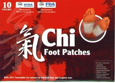 Detox Foot Patches PURE Crystals no filers, Original Chinese Chi Patches