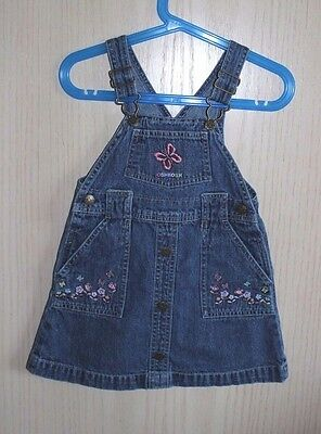 Oshkosh denim overall skirt for toddler girls size 3T