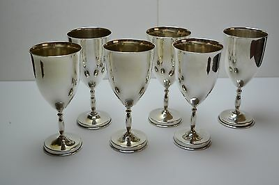 Set of 6 Vintage Mexican Sterling Silver Water Goblets Wine 1356gm