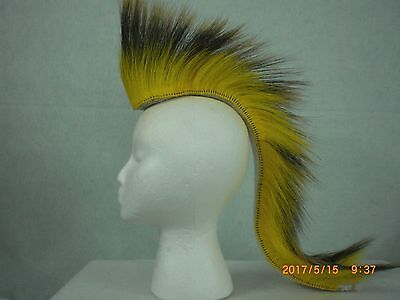 Porcupine Roach, Yellow, 20 inch Out, Yellow with White Yarn Base