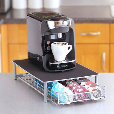 60 Pod Tassimo Coffee Capsule Holder Dispenser Stand Drawer Storage Rack