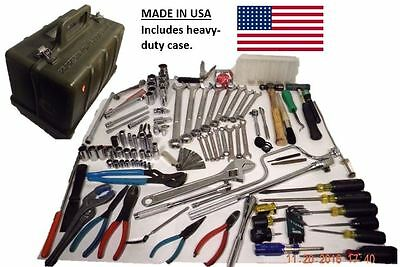 Military General Mechanic Tool Kit Set GMTK, 96% MADE IN USA, 120 Pieces