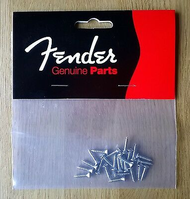 24 x Genuine FENDER Guitar Pickguard Chrome Screws | Brand New | 0994923000