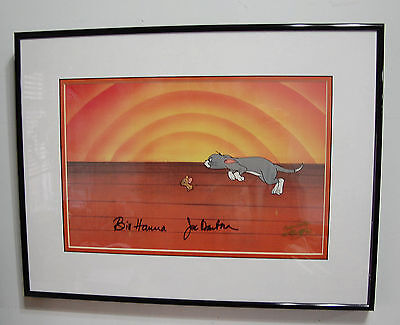 ORIGINAL Tom and Jerry Cel Hanna Barbera Signed Rare Animation Art Cell Cartoon