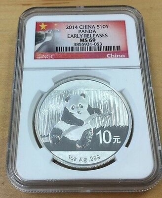 2014 S10Y China Panda EARLY RELEASES NGC MS69 (Q51)