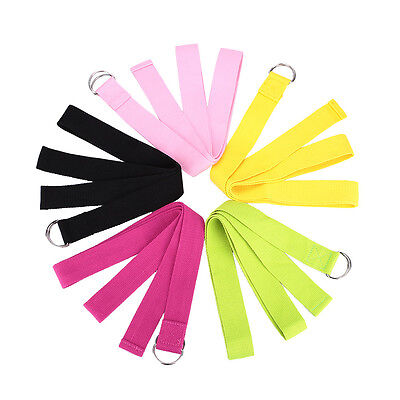 Multi-Color Gym Yoga Stretch Strap D-Ring Belt Yoga Hammock Waist Yoga Straps