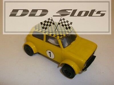 DD Slots Scalextric Mini 1275GT Yellow C122 – Used 18742
