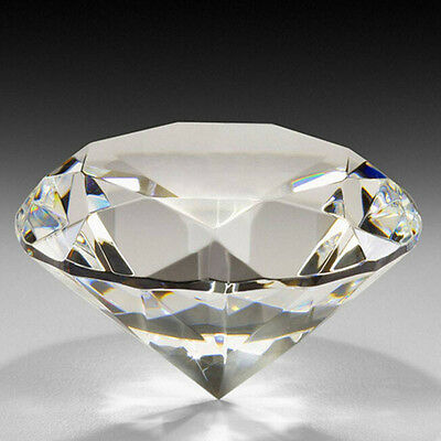 Cut Glass Paperweight Artificial Diamond Clear Crystal Wedding Jewelry