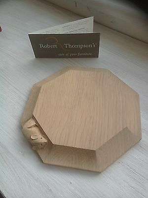Robert Thompson Mouseman solid oak chopping board / tea stand